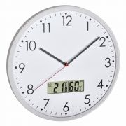 wall clock with digital thermometer and hygrometer