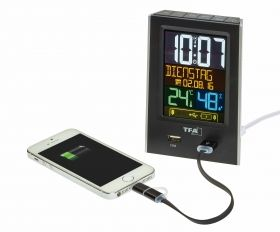 Radio alarm clock with USB charging function CHARGE-IT / Kat.№60.2537.01