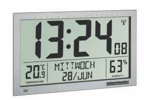 Digital XL radio-controlled wall clock with room climate / Art.№60.4517.54