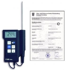 'P300' Profi-Digitalthermometer with factory certificate / Kat. Nr. 31.1020.K