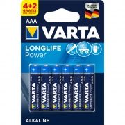 4+2 Gratis VARTA LONGLIFE POWER AAA BATTERY  - 1.5V / Kat.BA-AAA
