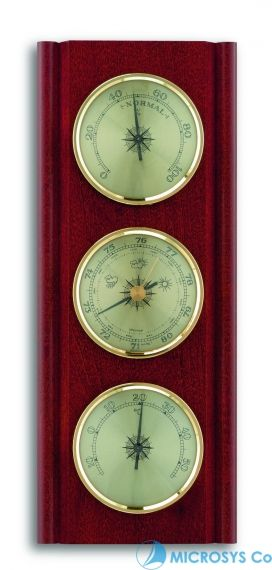 Weather station, solid mahogany  / Kat №20.1000.04