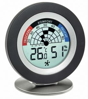 'Cosy Radar' digital thermo-hygrometer  also for operation with 'WEATHERHUB' / 30.5043.01
