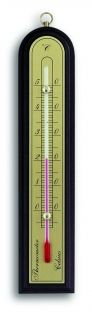 exclusive indoor thermometer  available in oak and mahogany / Kat. Nr. 12.1027.01
