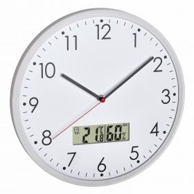 Analogue wall clock with digital thermometer and hygrometer / Kat.№60.3048.02