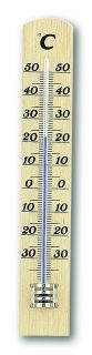 Analogue Indoor Thermometer made of Beech / Kat.№12.1003.05