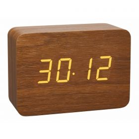 Designer radio-controlled alarm clock in wooden look CLOCCO / Kat.№60.2549.08