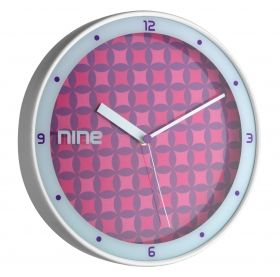 Analogue Designer Wall Clock with Aluminium Frame / Kat.№98.1100