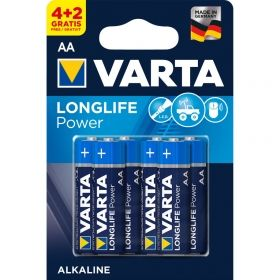 4+2 AA Gratis VARTA LONGLIFE POWER AAA BATTERY  - 1.5V / Kat.BA-AA6