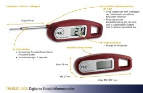 Digital Probe Thermometer THERMO JACK / Kat.№30.1047.02