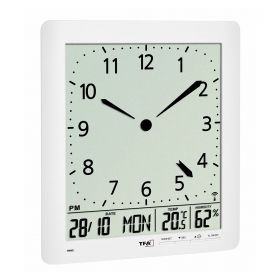 Radio-controlled wall clock with room climate / Kat.№60.4515