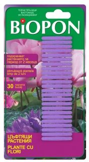 BIOPON flowering plant fertilizer sticks 30pcs