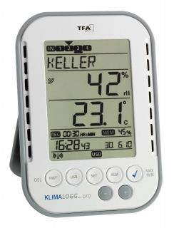 Professional thermo-hygrometer with data logger function KLIMALOGG PRO / Kat.№30.3039.IT
